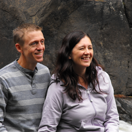 Happy Couple by Penny H - People Couples ( rocky, people, portrait, river, couples,  )