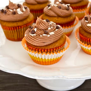 Pumpkin Cupcakes with Coconut Filling and Chocolate Cream Cheese Frosting {and an Amazon Giveaway!}