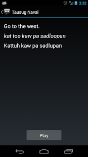 Tausug Naval Phrases - screenshot