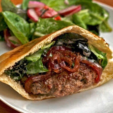 Lamb Burgers with Red Onion Relish