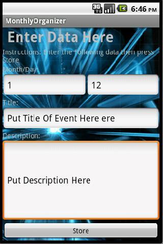 【免費生產應用App】Monthly Organizer-APP點子