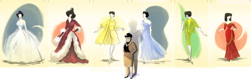 Google Doodle Edith Head's 116th Birthday