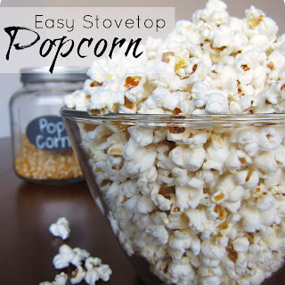 Easy Homemade StoveTop Popcorn with Coconut Oil