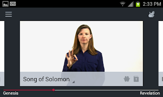 Screenshot of Deaf Bible