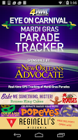 Screenshot of WWL Mardi Gras Parade Tracker