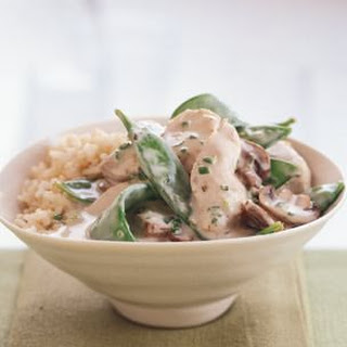 Snow Peas & Chicken Green Curry