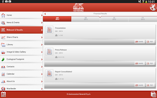 Screenshot of Generali