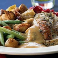 Herbed Turkey With Roasted Garlic Gravy