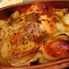 Lemon Herb Chicken in Clay Pot