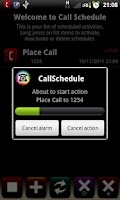 Screenshot of Call Schedule