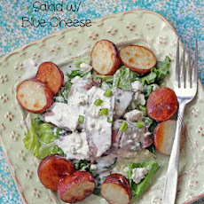 Pepper Steak and Roasted Potato Salad with Chunky Blue Cheese Dressing