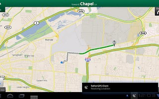 Screenshot of TetherGPS Lite