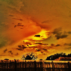 Orange Glow by Zeralda La Grange - Digital Art Places ( #landscape, #orange, #nature, #edit, #sunset )