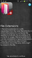 Screenshot of File Extensions
