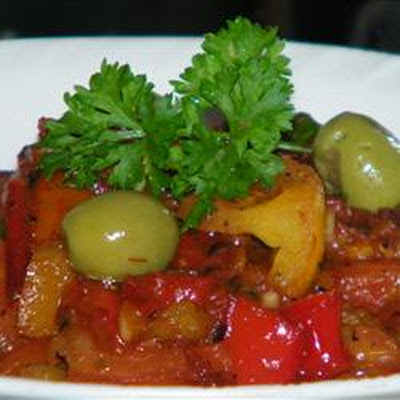 Moroccan Cooked Pepper Salad