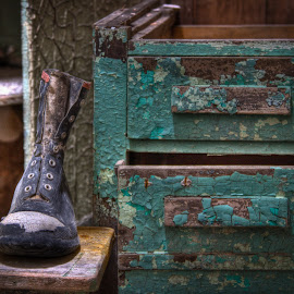 Time Capsule by Paul Brady - Artistic Objects Clothing & Accessories ( eastern state penitentiary, shoes, old, artistic, paint, decay, abandoned, object )