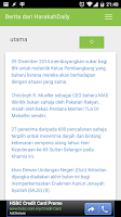 Screenshot of Berita dari Harakah