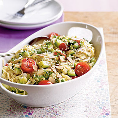 Pasta with Zucchini and Toasted Almonds