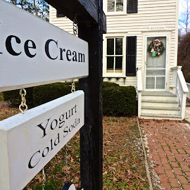 Looking forward to a Treat by T. Rick Jones - Buildings & Architecture Other Exteriors ( yogurt, village, ice cream, wreath, treat )