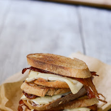 Bacon and Brie Grilled Cheese with Jam