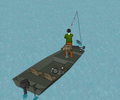 Screenshot of Bass Fishing 3D Kids Game Free