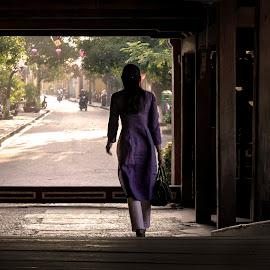 Women Viet Nam by Pham Trieu - People Street & Candids ( ao dai du xuan, ao dai cach tan, pho co hoi an, phu nu viet nam, ao dai )