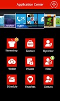 Screenshot of GO SMS Pro WP8 RED ThemeEX