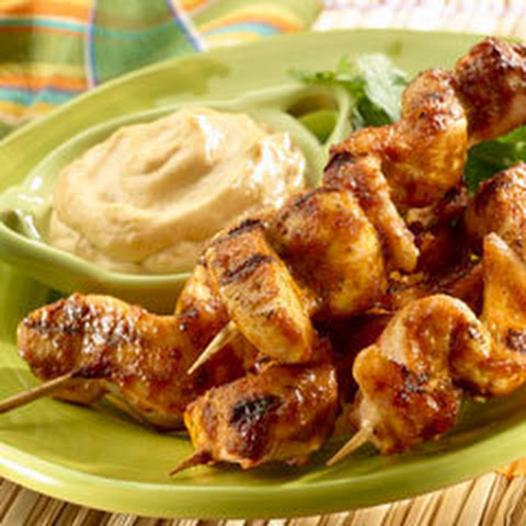 Chipotle Cilantro Chicken Skewers