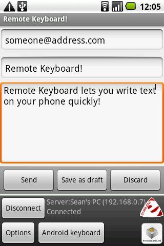 Remote Keyboard Input Method