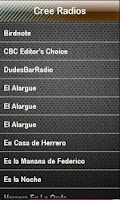 Screenshot of Cree Radio Cree Radios