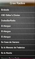 Screenshot of Cree Radio Cree Radios