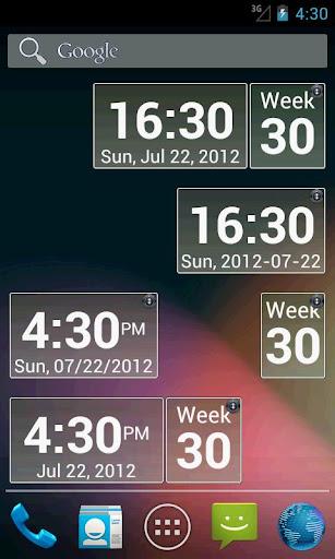 Blazing Skies Clock Widget
