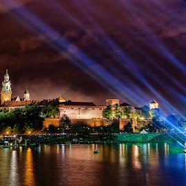 Wawel Castle | Wianki Festival 2014 by Michael Wiejowski - City,  Street & Park  Skylines ( wianki, europe, polska, krakow, festival, wawel, wisła, poland,  )