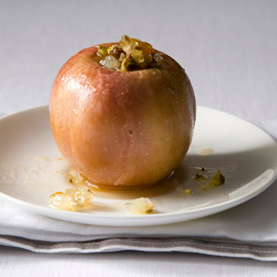 Baked Apples with Candied Fennel and Pistachios