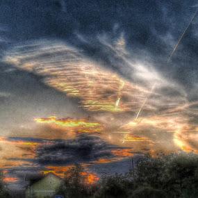 Colerful Sky over Village in Sunset by Nat Bolfan-Stosic - Landscapes Sunsets & Sunrises ( colerful, sky, village, bright, sunset )