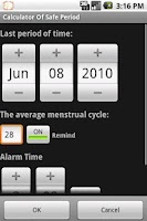 Screenshot of Calculator Of  Menstrual Cycle
