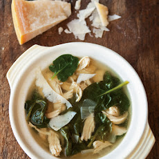 Parmesan Broth with Lemon, Chicken & Spinach
