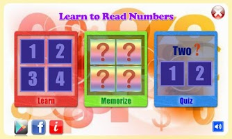 Screenshot of Learn to Read Numbers