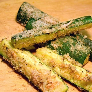 Parmesan Toasted Zucchini Spears