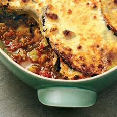 Moussaka With Yogurt And Cheese Topping