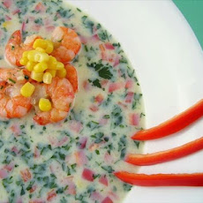 Curried Corn and Shrimp Soup