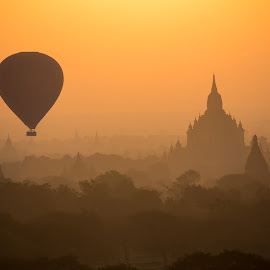 Balloons Over Bagan by Caruso Furyk - Landscapes Travel ( adventure, travel, places, landscape )