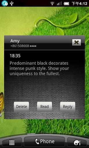 Wali SMS Theme: Black Punk