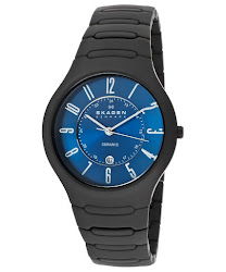 Skagen Men's Skagen Blue/Black Dial Black Ceramic SKAGEN-817LBXNC Watch