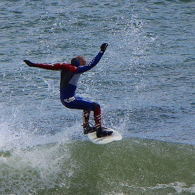 Surfs Up! by Cheryl Thomas - Sports & Fitness Surfing ( water, surfing, surfer, wave, ocean )
