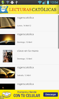Screenshot of Lecturas Católicas