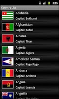 Screenshot of Country Capital Currency List