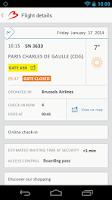 Screenshot of Brussels Airport Flightplanner