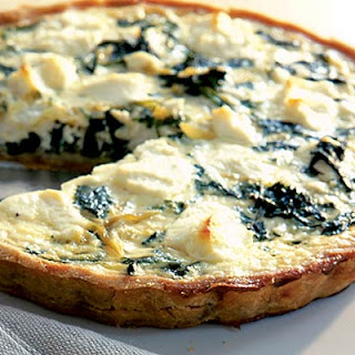 Goat's Cheese & Watercress Quiche