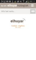 Screenshot of Elhuyar Hiztegiak offline